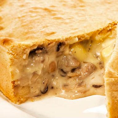 Torta de Cogumelos e Camembert