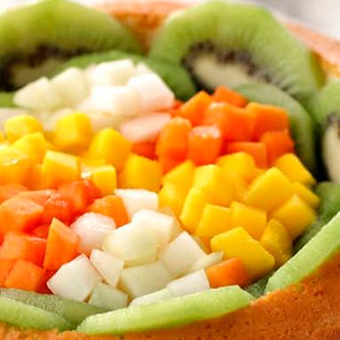 Torta de Frutas Tropicais