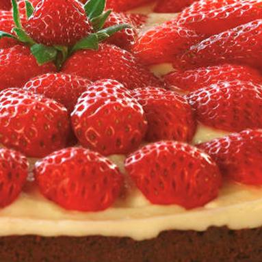 Torta de Morango com Brownie